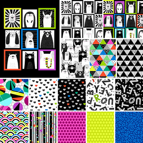 Black & White Touch of Bright Full Collection