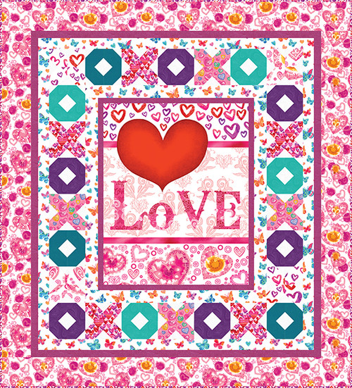 Color My Valentine Quilt #1