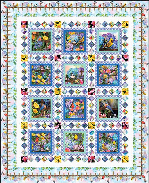 Hydrangea Garden Quilt #2