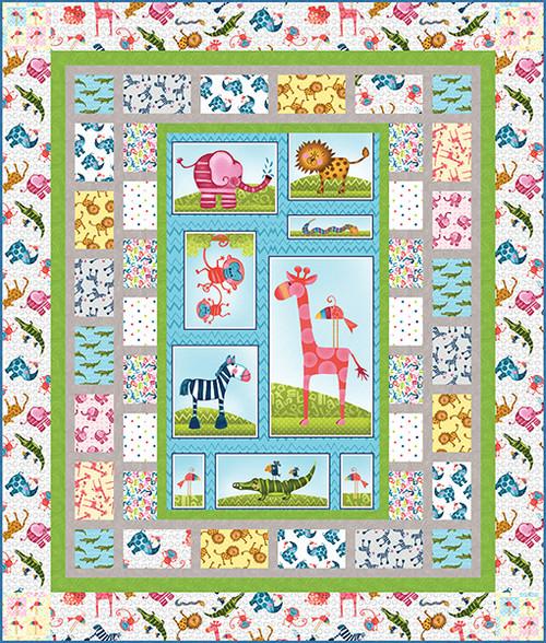 Silly Safari Quilt #1
