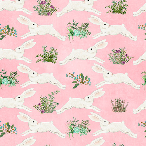 18746-Pink || 3 Wishes Fabrics Touch of Spring