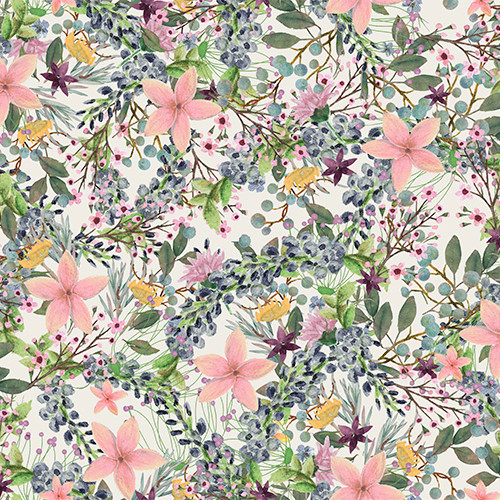 18749-Multi    3 Wishes Fabrics Touch of Spring