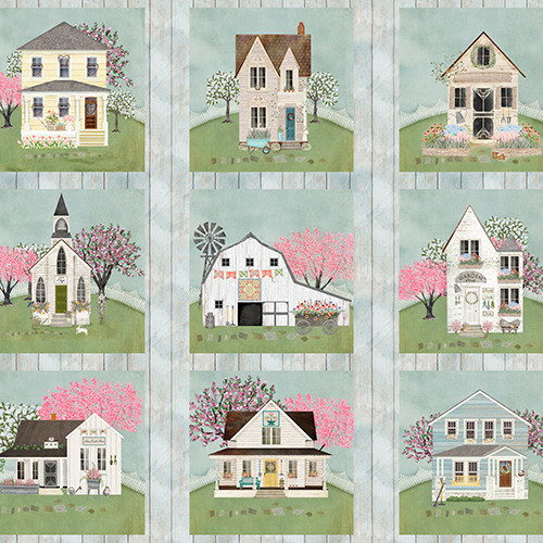 18751-Panel || 3 Wishes Fabrics Touch of Spring