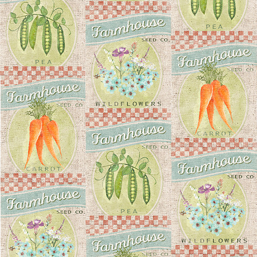 18753-Beige || 3 Wishes Fabrics Touch of Spring