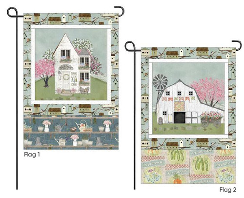 Touch of Spring Quilt and Flags