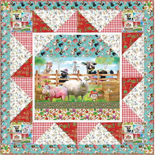 Welcome to the Funny Farm Panel Quilt