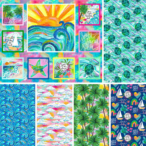3 Wishes Seas the Day Full Collection || 3 Wishes Fabrics Seas the Day - Digital