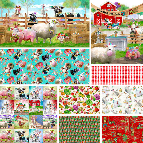 3 Wishes Welcome to the Funny Farm || 3 Wishes Fabrics Welcome to the Funny Farm - Digital