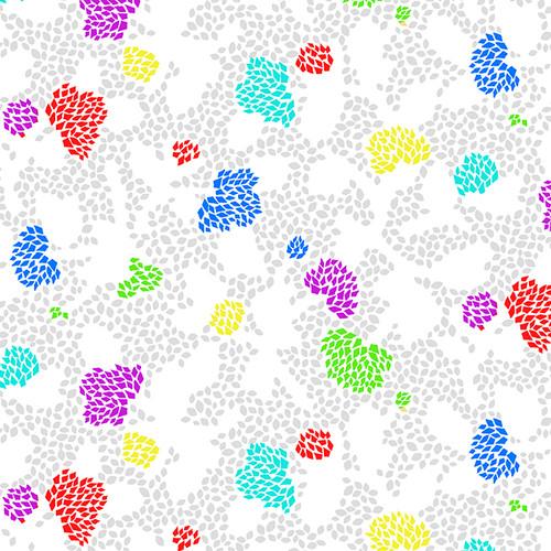 "6183-5 White/ Multi ||  Geo Floral 108"""