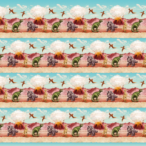 6079-11 Sky Blue    March Of The Dinosaurs