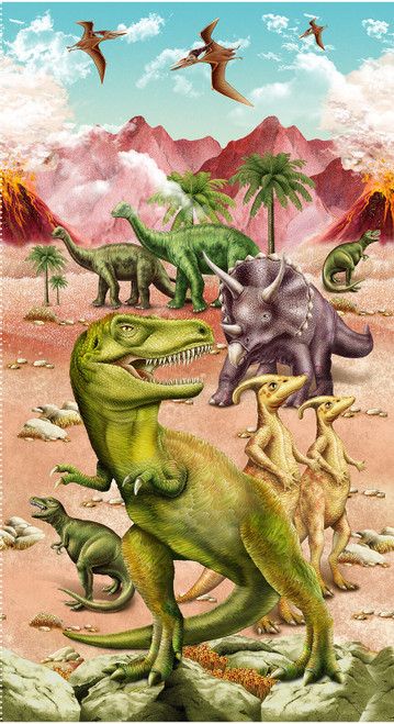 6080P-33 Tan    March Of The Dinosaurs