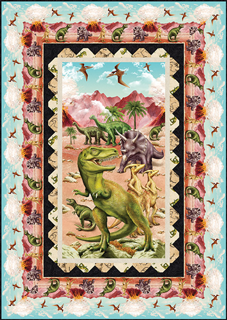 March of the Dinosaur Quilt #1