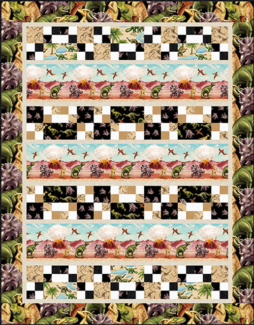 March of the Dinosaur Quilt #2
