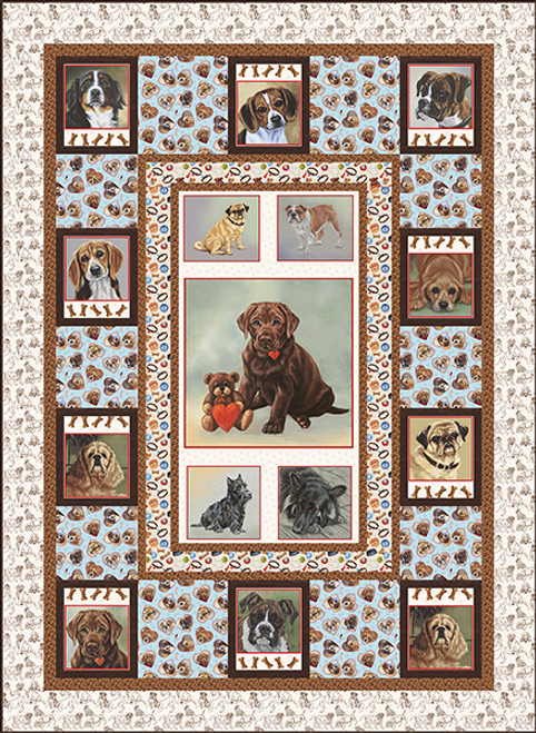 Off the Leash Quilt #1