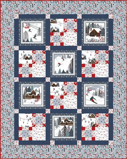 Alpine Ski Quilt #1