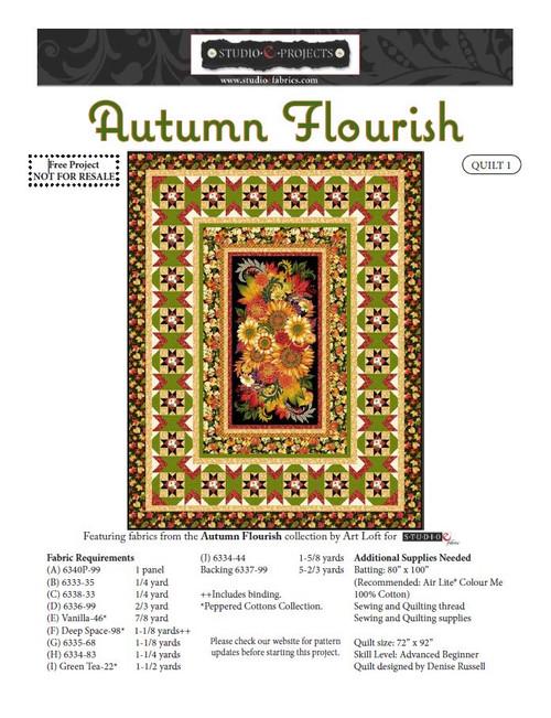 Autumn Flourish Quilt #1