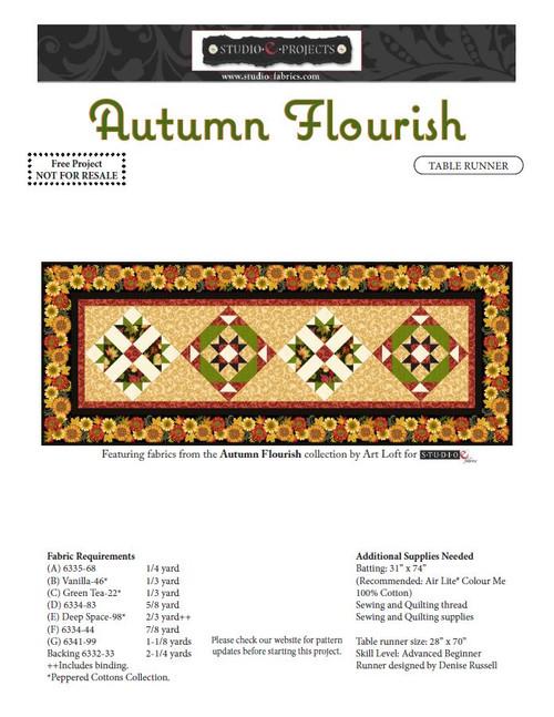 Autumn Flourish Table Runner