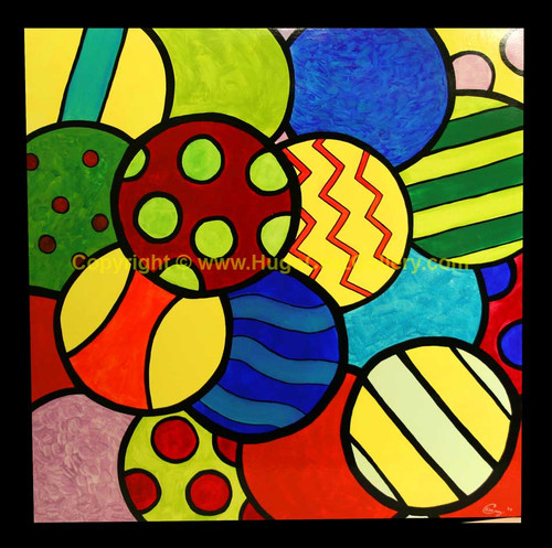 """""""Gumballs"""" ● Acrylic Painting ● [SOLD]"""