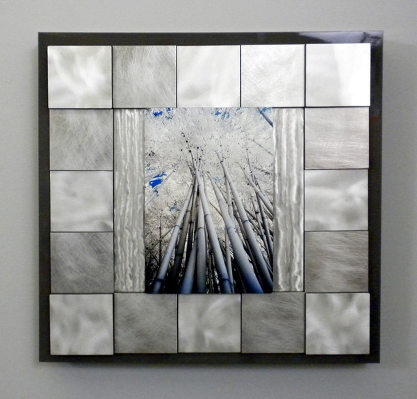 """""""Bamboo Canopy on Metal"""" - SOLD"""