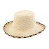 Ladies Rosita Black edged Crochet Panama