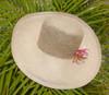 Ladies Crochet Crown Panama - shown in Almond