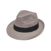 Crochet Crown Snap Trilby panama - Stone