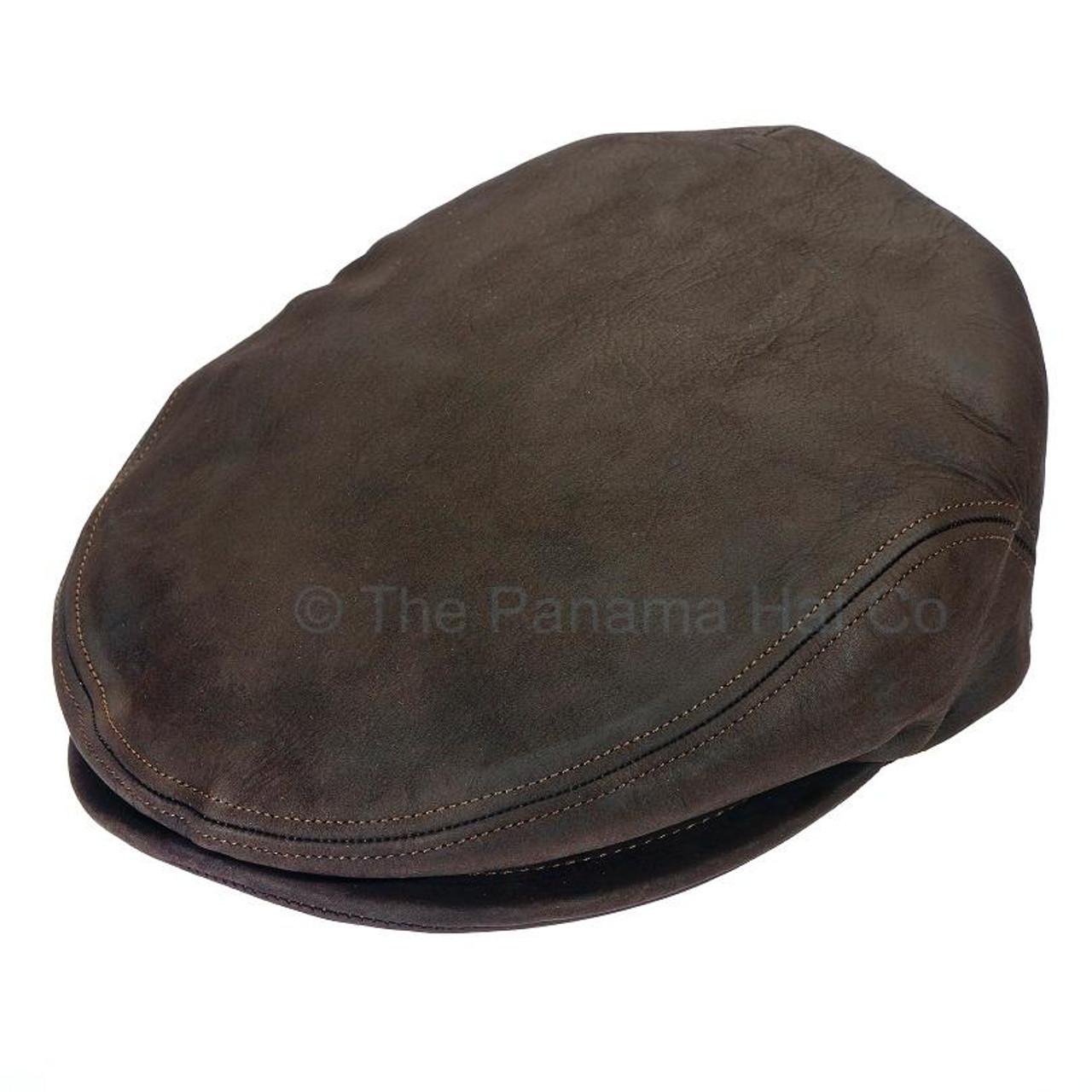 Italian Leather Flat Cap - The Panama Hat Company c09b2da228e