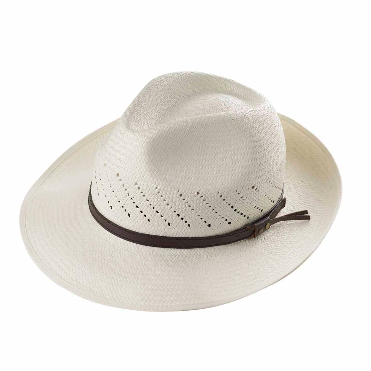 7e6a452f Open Vent Snap Trilby Panama - The Panama Hat Company