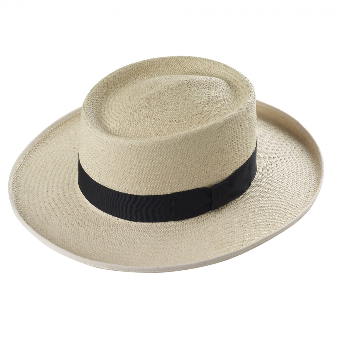 f507330e11ffee Men's Panama Planter - in Ivory with a black band and natural edging