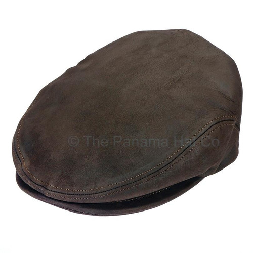 Italian Leather cap- shown in Chocolate brown