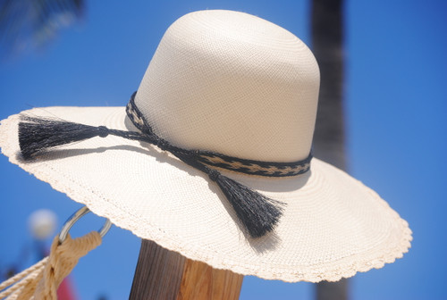 Rosita Brim Panama - shown with optional horsehair band