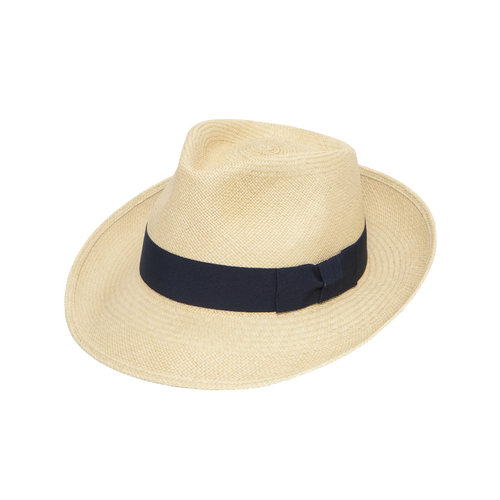 The Joseph Vanilla Trilby with Navy Band