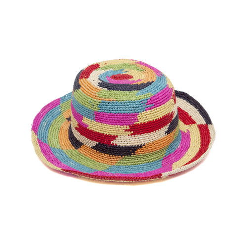 Ladies Rainbow Crochet Panama