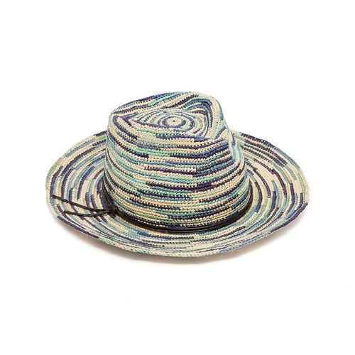 Ladies Crochet Panama - Sky Blue