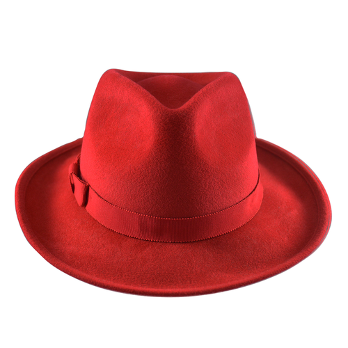 Granada Trilby- Poppy Red