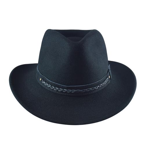 Felt Outback Hat- Black