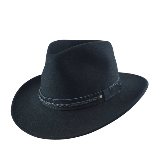 Felt Outback Hat- Black