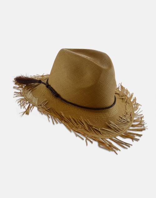 Cinnamon Isabella Panama  with Horse Hair Band