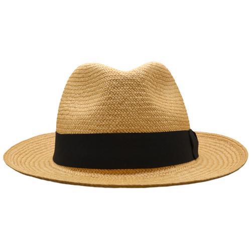 NEW Cinnamon Snap Brim Trilby panama hat - Cuenca 3/5 / Black band