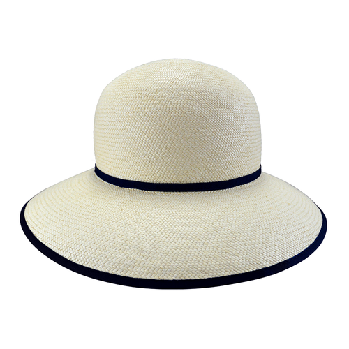 the-panama-hat-company-london-genuine-authentic-panama-hats-luton-Christine-womens-Panama-hat-with-Navy-Trim