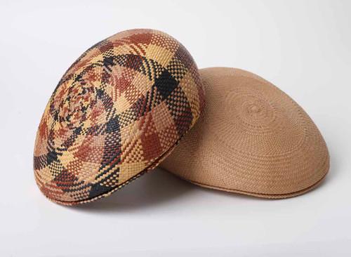 Panama Caps, as shown in Black/Cinammon/brown check and Cinammon
