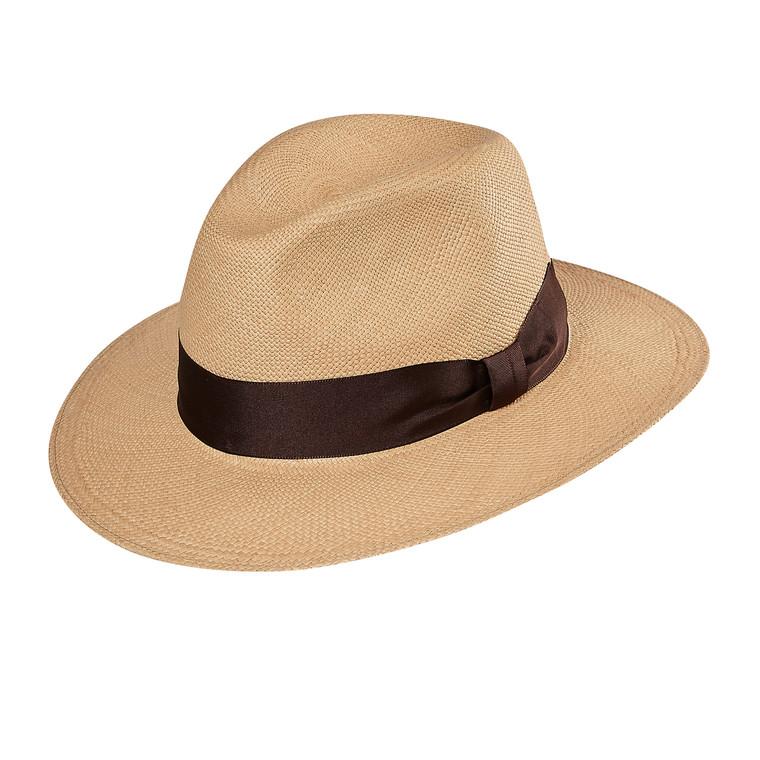 OPORTO Tobacco Panama Hat, in Brisa 3/5 weave with chocolate band