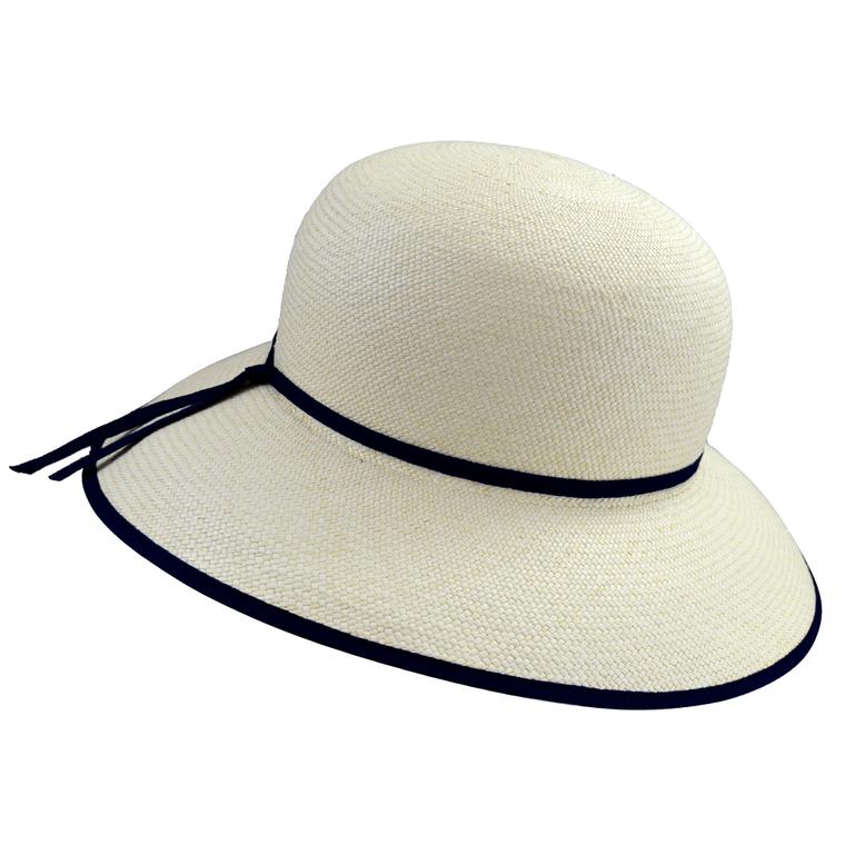 the-panama-hat-company-london-genuine-authentic-panama-hats-luton-Christine-womens-Panama-hat-with-Navy-Trim