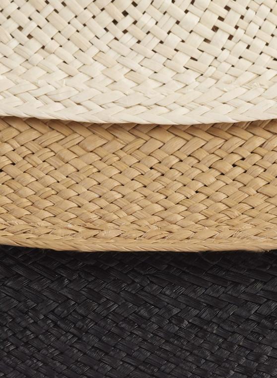XL Brim Panama colours - shown in Natural / Caramel / Black