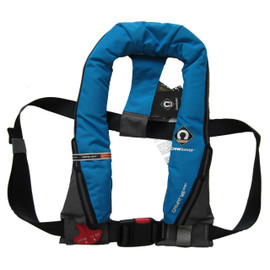KEY FEATURES:  ISO 12402-3 (150N) approved but with superior buoyancy (165N) to float you higher in the water Designed with a Peninsular Chin support, to keep your airway well clear of the water whatever the conditions Attachment point for Crewsaver Surface Light Soft loop D-ring for attaching safety harness (with harness option) Robust outer cover for durability Halkny Roberts 840 Manual operating heads Centre buckle adjuster Oral Tube Whistle Reflective tape Lifting becket