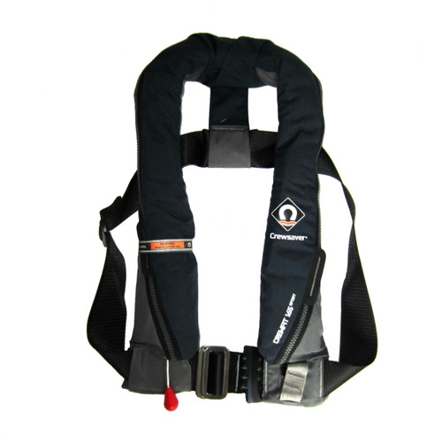 Designed with a Peninsular Chin support, to keep your airway well clear of the water whatever the conditions   Harness Loop   Attachment point for Crewsaver Surface Light   Robust outer cover for durability   UML MK5 Automatic   Centre metal buckle adjuster   Oral Tube   Whistle   Reflective tape   Lifting becket
