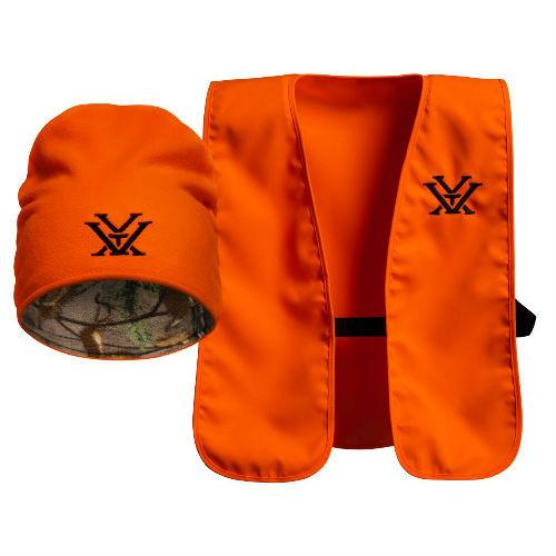 Vortex Optics Blaze Orange Safety Vest with Knit Hat