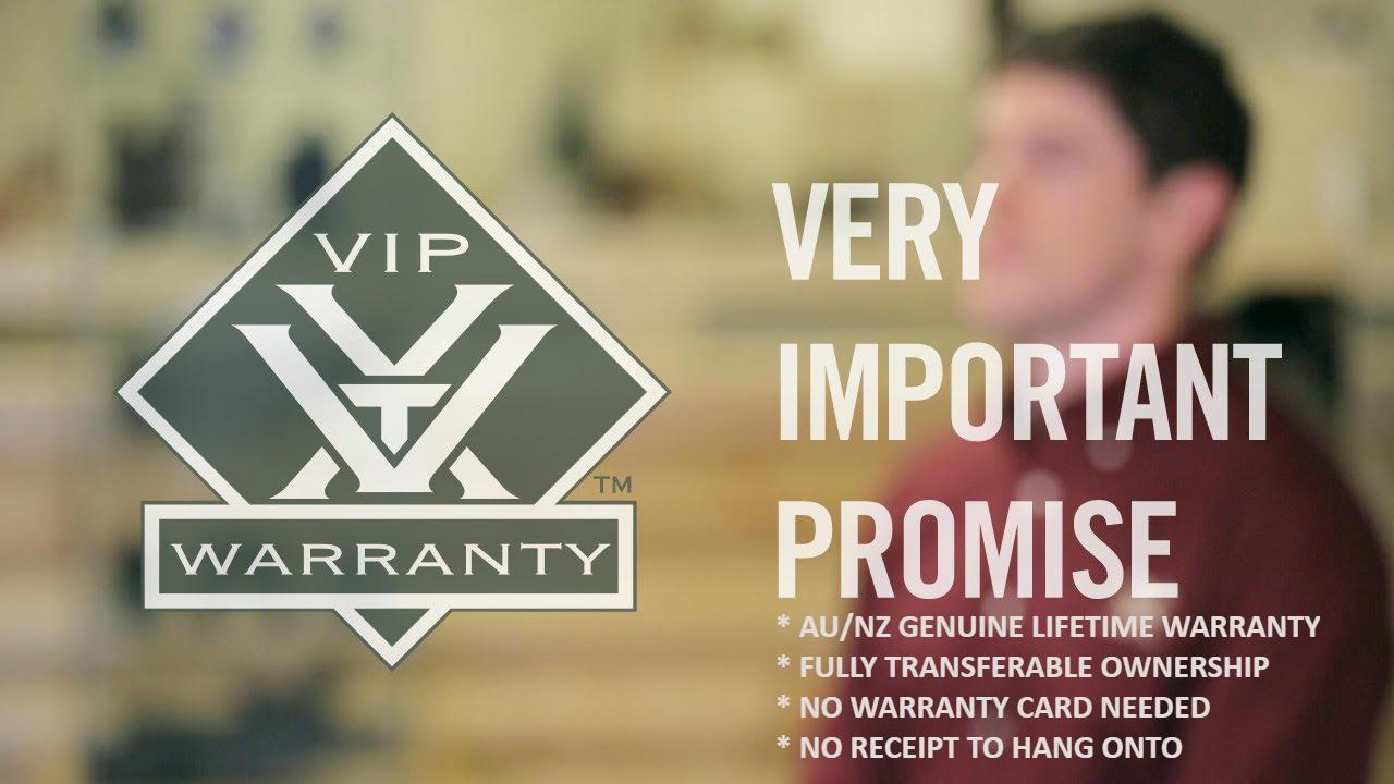 Vortex Australian Lifetime Warranty