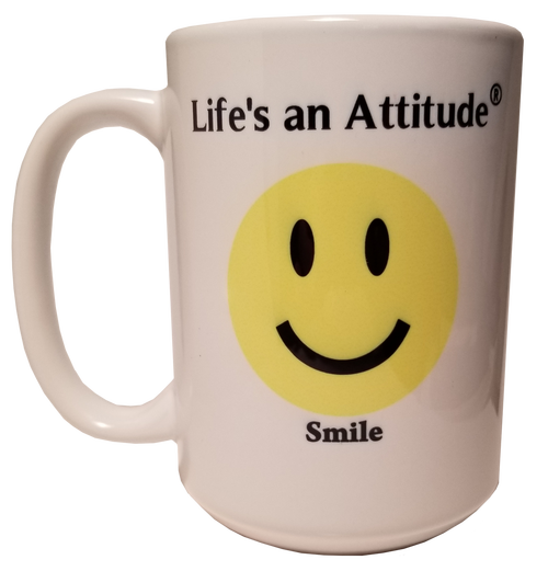 Life's an Attitude Smile Coffee Mug