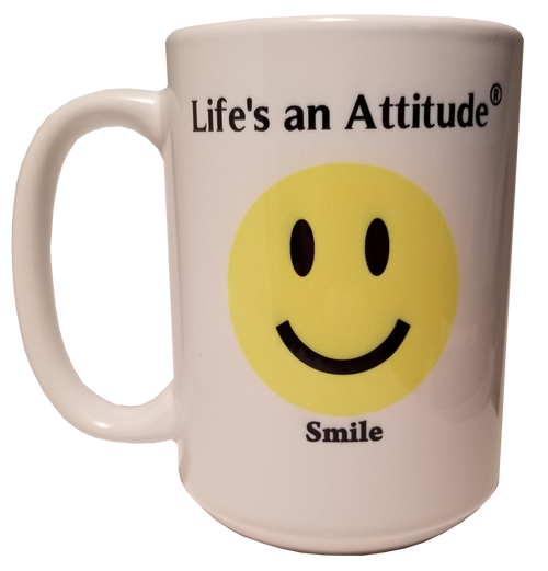 Life's an Attitude Smile Coffee Mug
